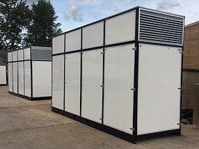 1200 kW temporary boiler for district heating