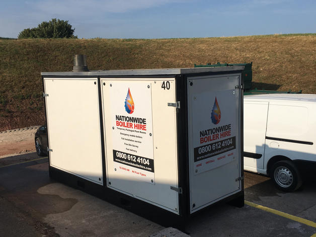 100 kW Temporary Boiler