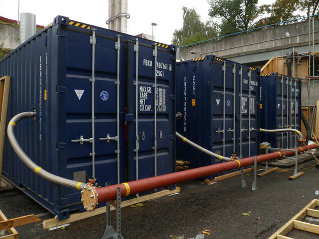 3000 kW Temporary Boiler