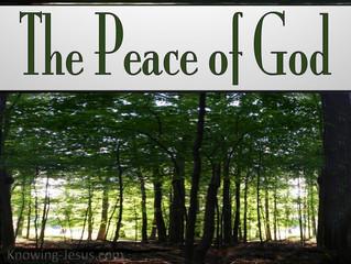 When Peace Exceeds Understanding