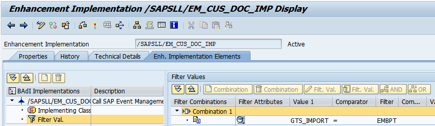 Filter Object for Export Declaration Document