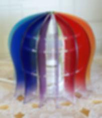 虹 丸型 ランプシェード