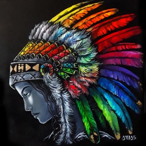 Indienne rainbow