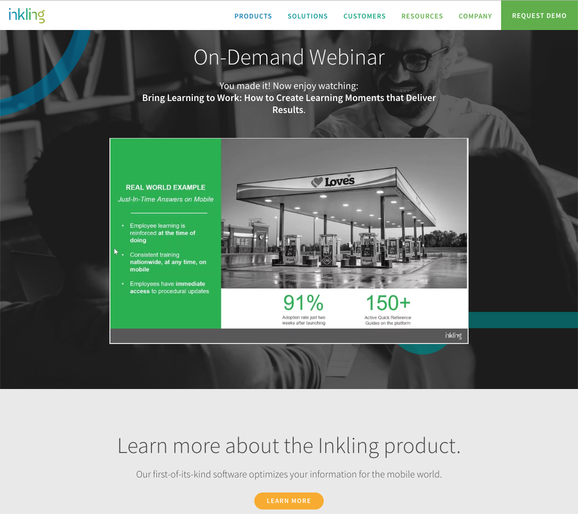 Webinar fulfillment page