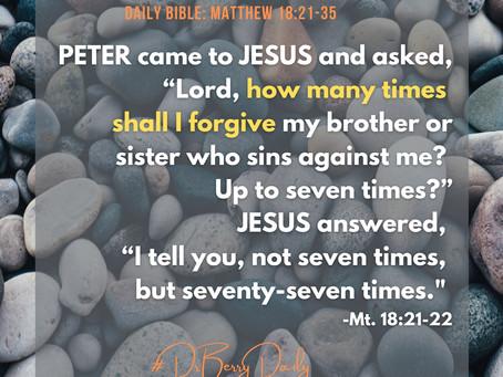 Forgiveness and Trusting God