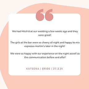 I can not recommend Hitch'd pop up bar more! We had our wedding on Saturday night and they