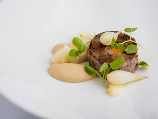 Edinburgh Evening News 70 - Braised Lamb Shoulder, Celeriac Purée, Poached Pearl Onions