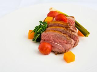 Edinburgh Evening News 62 - Roasted Rump of Lamb, Soused Tomatoes, Fondant Potato, Butternut Squash