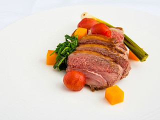 Edinburgh Evening News 62 - Roasted Rump of Lamb, Soused Tomatoes, Fondant Potato, Butternut Squash