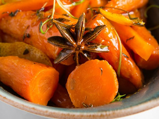 Edinburgh Evening News 28 - Carrots in Orange and Butter with Star Anise| Cranberry and Chestnut Stu