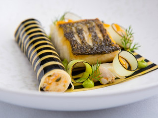Edinburgh Evening News 72 - Scottish Hake Fillet, Shellfish Cannelloni, Fennel and Dill Purée, Clams