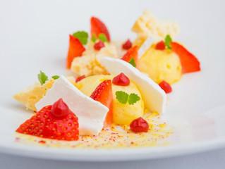 Edinburgh Evening News 59 - Invergowrie Strawberries with Lemon Curd Cream and Broken Meringue