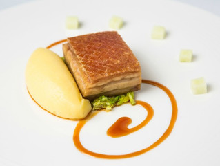 Edinburgh Evening News 24 - 11-Hour Slow Roasted Belly Pork, Toffee Apple Jus, Pomme Purée