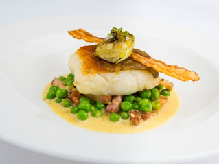Edinburgh Evening News 58 - Pan Roasted Sea Bass with Peas à la Française
