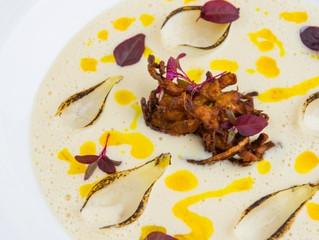 Edinburgh Evening News 47 - White Onion Velouté with Onion Bhaji