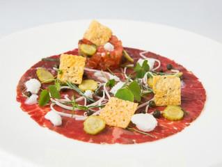 Edinburgh Evening News 25 - Beef Carpaccio, Tomato Tartare and Parmesan Crisps