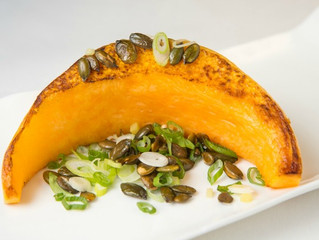 Edinburgh Evening News 22 - Roasted Pumpkin with Ginger and Spring Onions