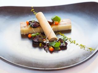 Edinburgh Evening News 20 - Chicken and Potato Pressé, Pickled Plums, Liver Parfait, Bread Tuille