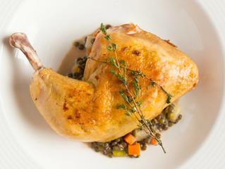 Edinburgh Evening News 33: Roasted Leg of Chicken with Puy Lentils