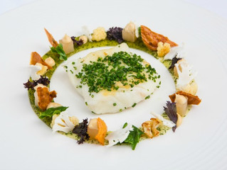 Edinburgh Evening News 56 - Pan Roasted Halibut with Dill Jelly