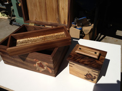 Jewlery box with inlay