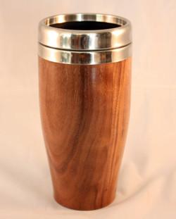 walnut coffee mug