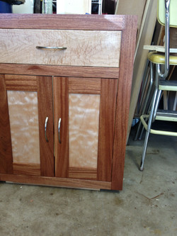 Mahogany & Quilted Maple Cabinet
