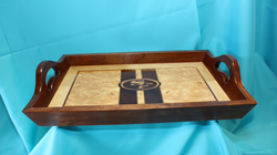 Marquetry serving tray
