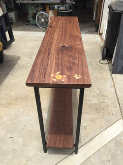 Walnut with Inlay Console Table