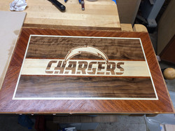 Chargers marquetry