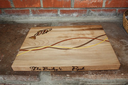Maple board with inlay