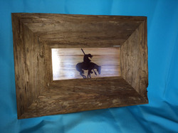Marquetry picture / barnwood frame