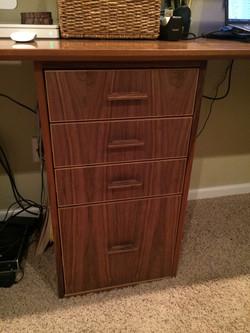 Walnut drawers