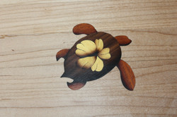 Walnut, Mahogany & Yellowheart inlay