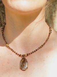 Bronzite Beaded Necklace