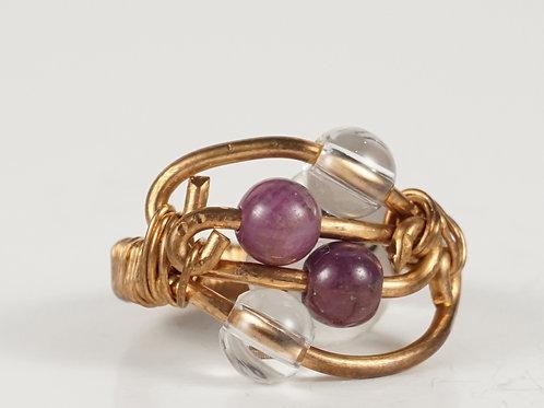 Ruby Quartz Ring