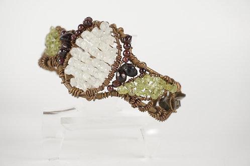 Beaded Wire Wrap Bracelet
