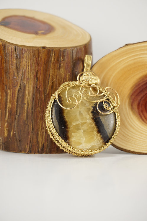 Septarian Wire Wrap Pendant