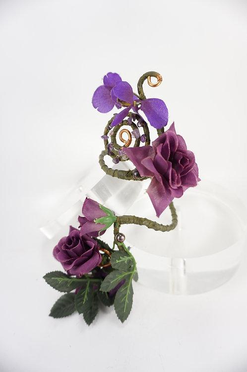Purple Roses Armband