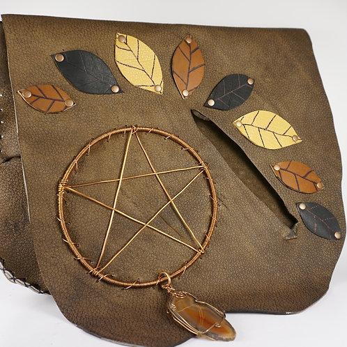Leather Pentagram Bag