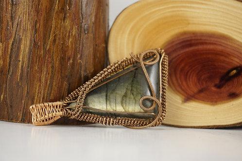 Labradorite Wire Wrap Pendant