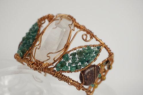 Quarts Wire Wrapped Bracelet