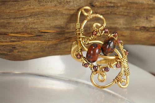 Jasper/Garnet Ring