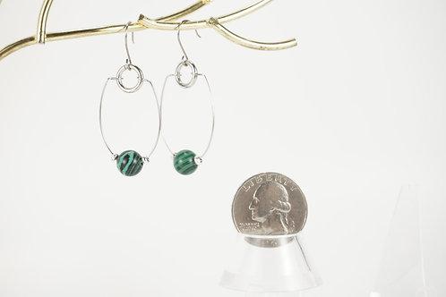 Malachite Hoop Earrings