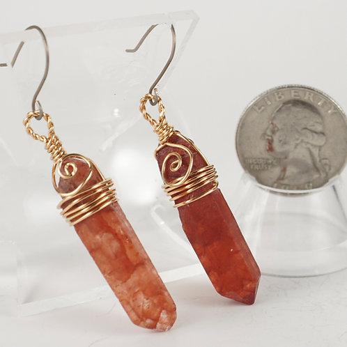 Red Quartz Earrings