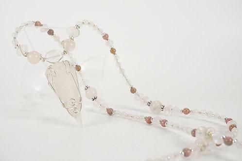 Rose Quartz Pendulum Necklace