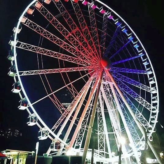 French festival brisbane wheel french colours