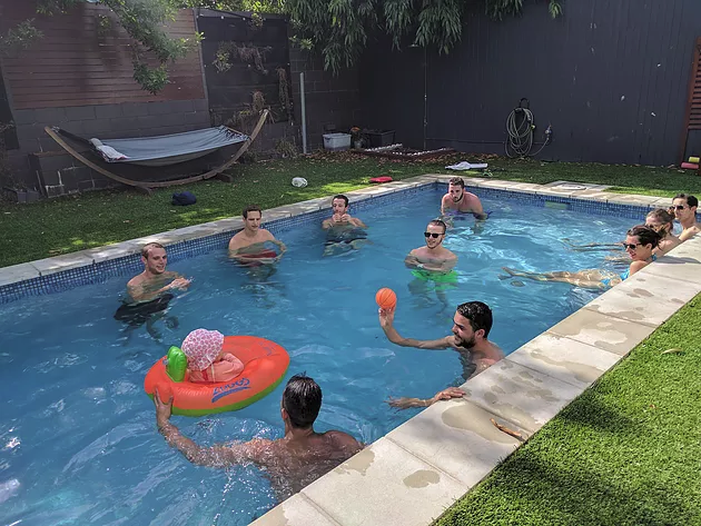 Exciting pool  party