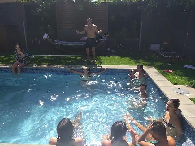 Pool party brisbane backpacker pool fun
