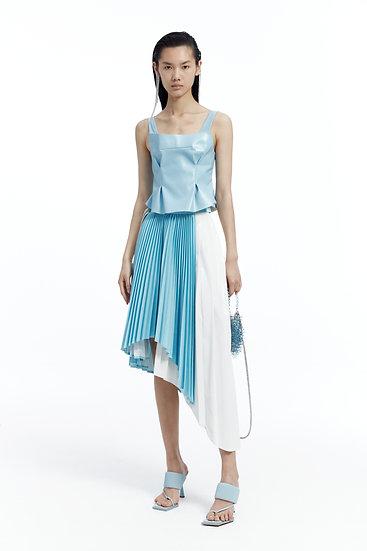 Blue DECH Pleated Skirt